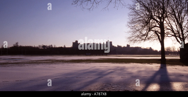 Snow Scene At Home Park Windsor Berkshire