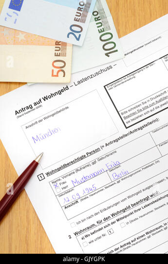 Housing Benefit Form Stock Photos & Housing Benefit Form Stock