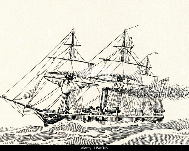 Illustration Sailing Ship Warship Stock Photos ...