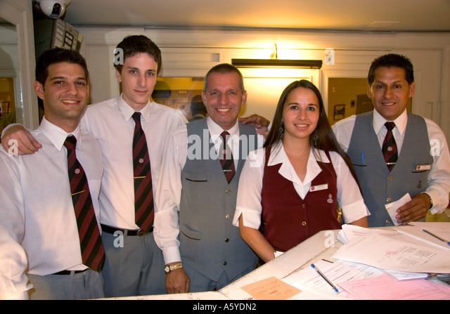 Front Desk Staff At Hotel Colon In Buenos Aires Argentina