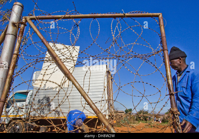 Barbed Wire Gate Stock Photos & Barbed Wire Gate Stock
