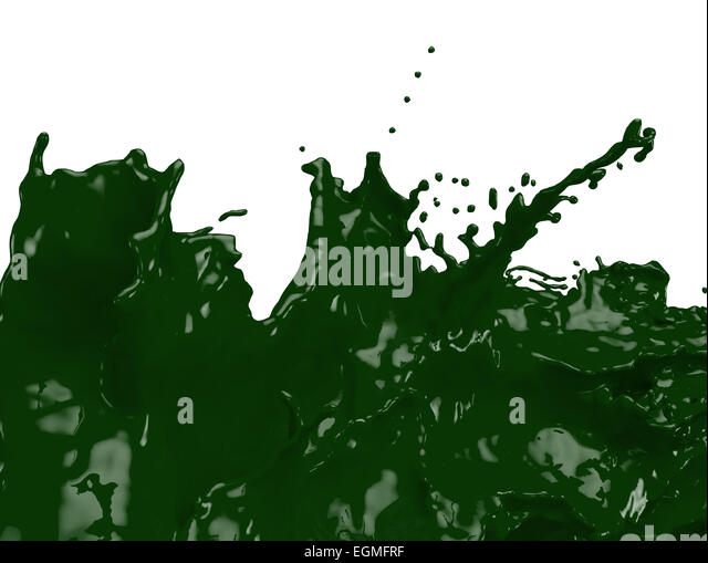 Dark Green Paint Splatter Egmfrf