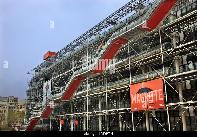 Pompidou centre paris gallery stock photos pompidou - Centre george pompidou architecture ...