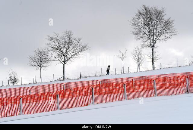 Pedestrian Walks Through Snow In Stock Photos Amp Pedestrian