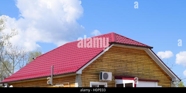 Roof Metal Sheets. Modern Types Of Roofing Materials.   Stock Image