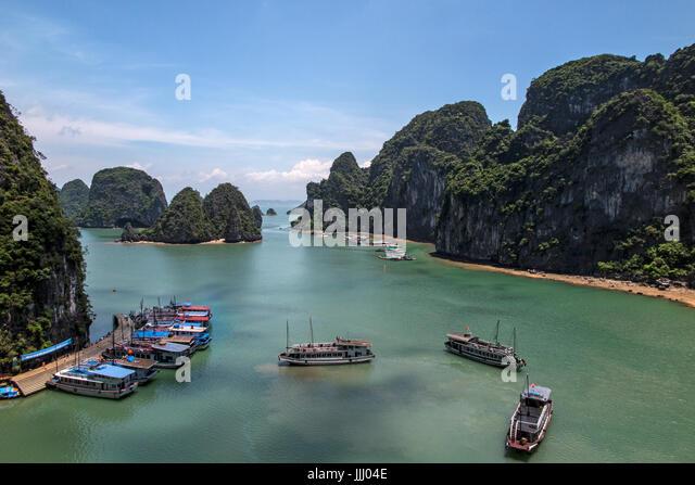 Scenic view of Halong Bay Vietnam. - Stock Image