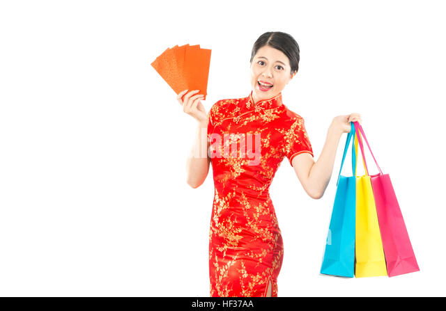 Amazing Woman With Shopping Bags In Mall Wearing A Shirt  Stock Image