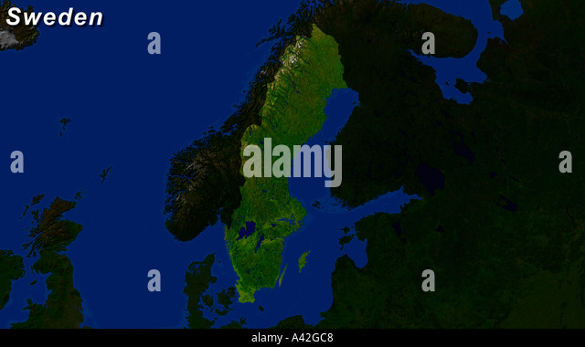 Sweden Map Stock Photos Sweden Map Stock Images Alamy - Sweden map satellite