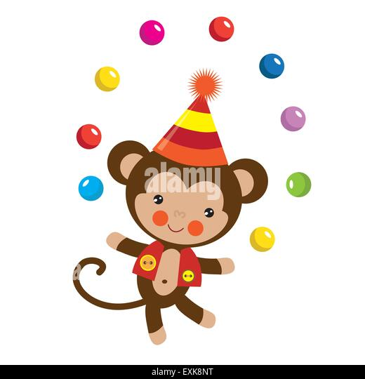 Royalty-Free (RF) Circus Monkey Clipart, Illustrations ...