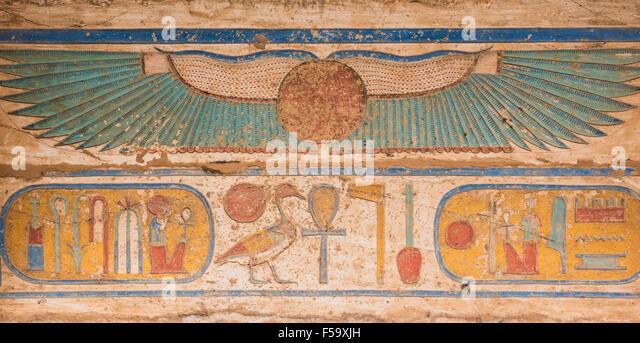 Egyptian hieroglyph stock photos