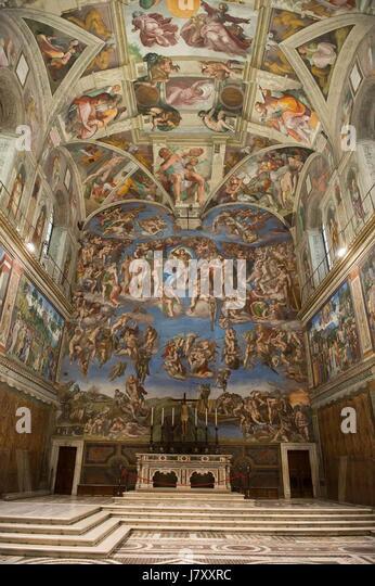 Michelangelo Last Judgement Stock Photos & Michelangelo ...