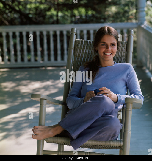 Rocking Chair On Front Porch Stock Photos Amp Rocking Chair