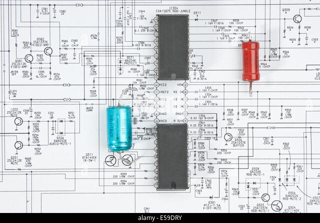 wiring diagram stock photos wiring diagram stock images alamy silicon chip on the wiring diagram stock image