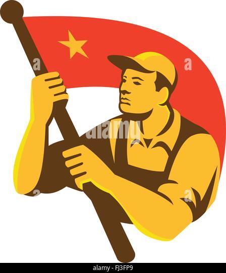 communist flag waving stock photos amp communist flag waving