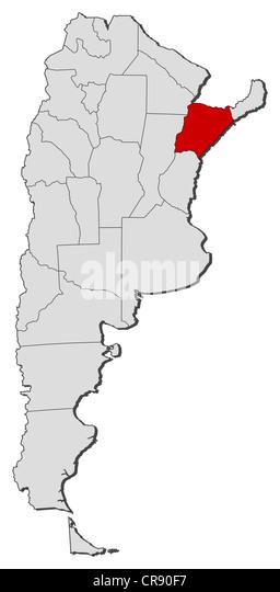 Corrientes Province Argentina Stock Photos Corrientes Province - Argentina map with provinces