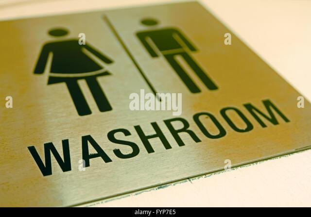Bathroom Signs Edmonton bathroom sign stock photos & bathroom sign stock images - alamy