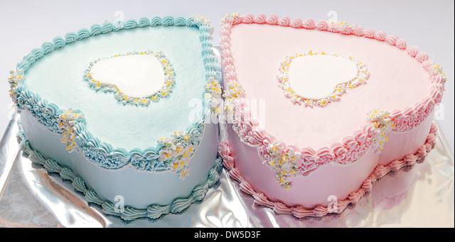 birthday cakes twins boy girl stock photos birthday cakes twins on cake birthday boy girl