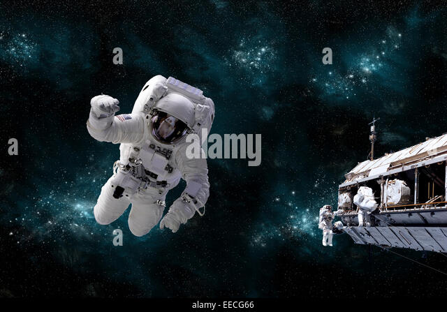 an astronaut floating in space - photo #25