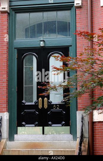 Apartment Building Front Door brownstone front door stock photos & brownstone front door stock