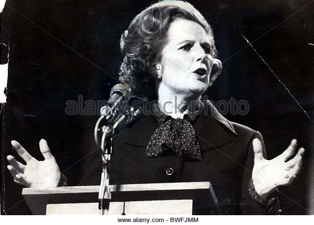 Margaret Thatcher British Politician Stock Photos ...