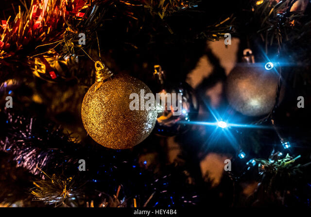 Christmas Tree Decorated With Apples Stock Photos & Christmas Tree ...