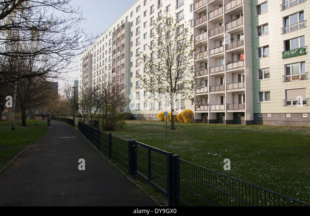 Apartment block building house berlin germany stock image