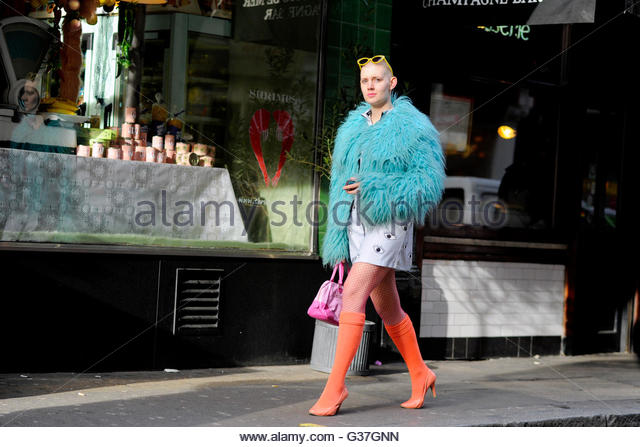 Brewer Street For London Fashion Week Stock Photos