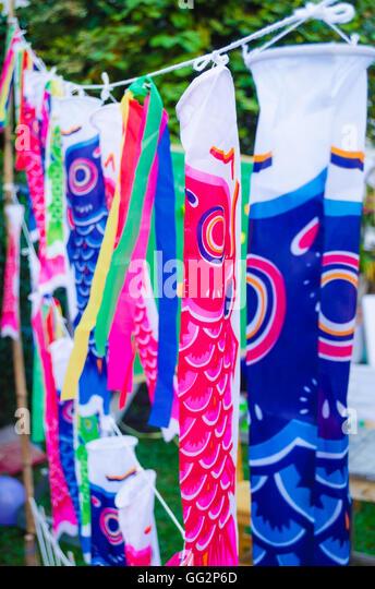 Boys day koi stock photos boys day koi stock images alamy for Japanese flag koi