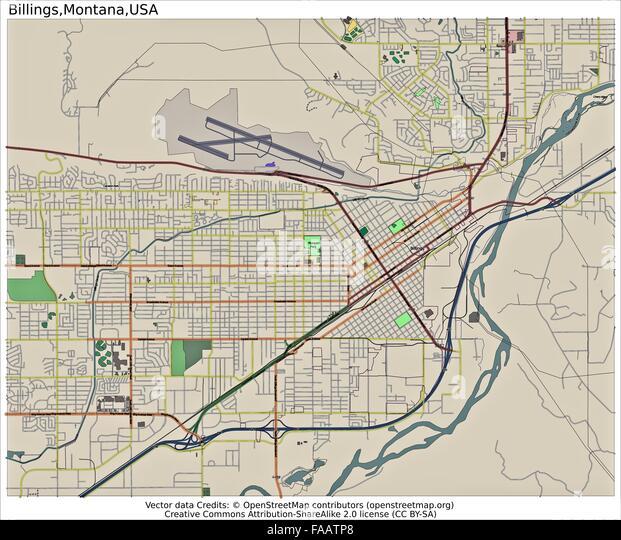 Map Of Montana Stock Photos Map Of Montana Stock Images Alamy - City map of montana