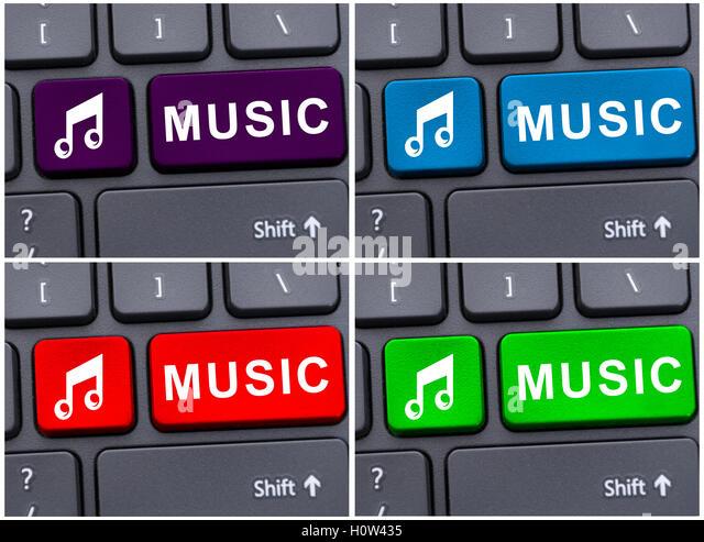 Recording Music Computer Stock Photos Recording Music Computer
