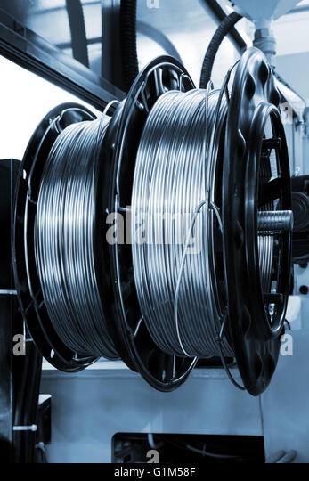 Metal Wire Spools : Wire reel stock photos images alamy
