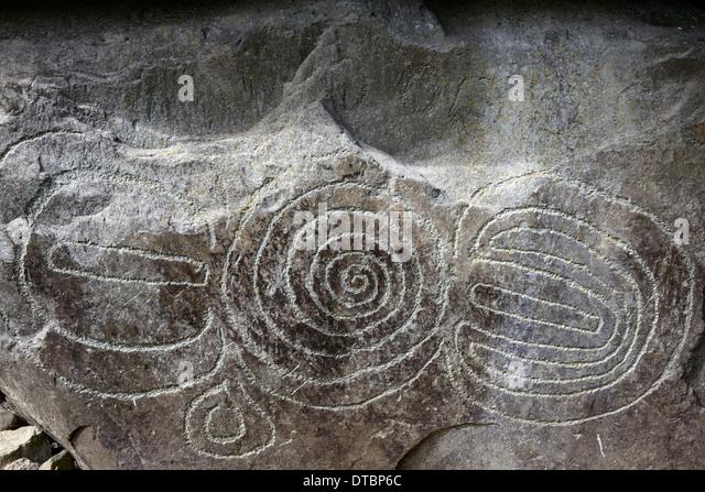 Neolithic passage tomb boyne valley stock photos