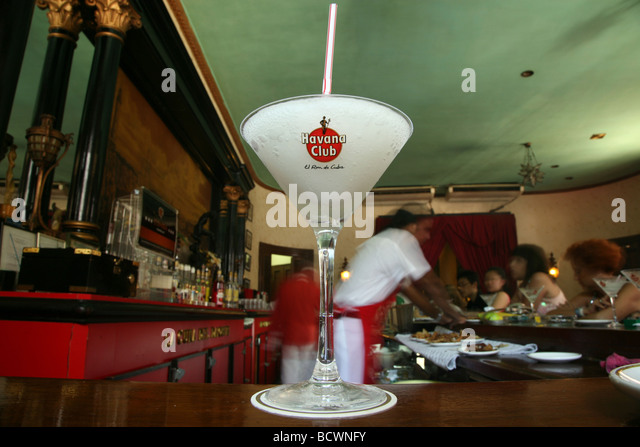 havana cuba bar staff serving drinks the el floridita bar havana cuba ...
