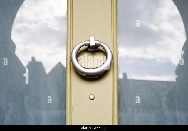 Awesome Door Knocker On Front Door   Stock Image