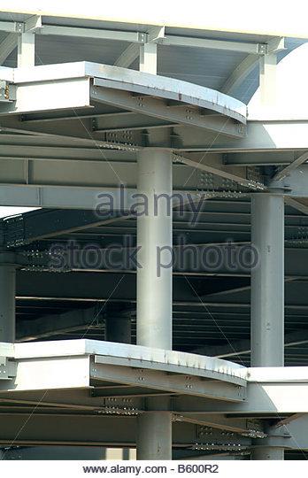 Pillar Concrete Buildings : Modern construction methods stock photos