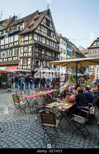 Strasbourg alsace france street stock photos strasbourg for Rue du miroir strasbourg