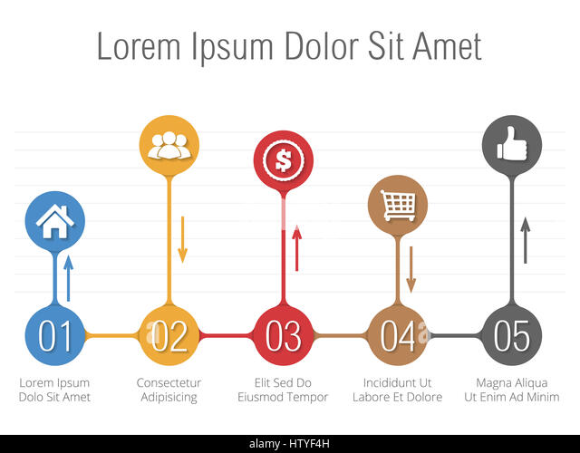 Horizontal Bar Graph Template Icons Stock Photos  Horizontal Bar