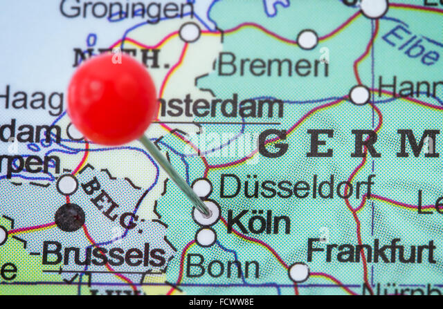 Cologne Map Stock Photos Cologne Map Stock Images Alamy - Map of koln germany