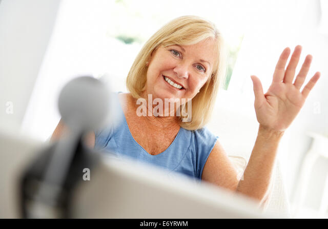 woman skype