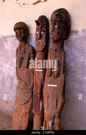 Africa ethiopia konso carved wooden stock photos