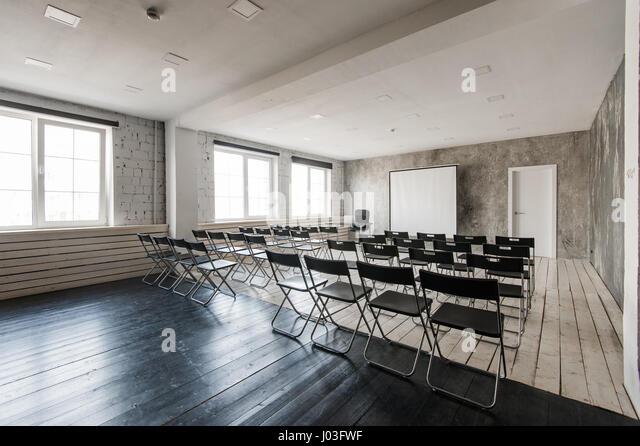 Modern Classroom Projector ~ Empty seat class stock photos