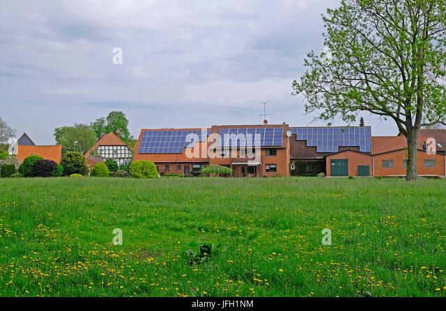 GroBartig Modern Brick Buildings With Solar Cells Beside A Traditional Half Timbered  House In Hävern,