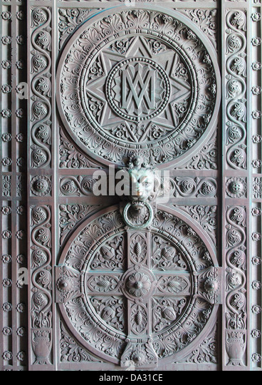 Impressive bronze doors to the Notre-Dame de la Garde above Marseilles France - & Decorated Bronze Doors Stock Photos \u0026 Decorated Bronze Doors Stock ... Pezcame.Com