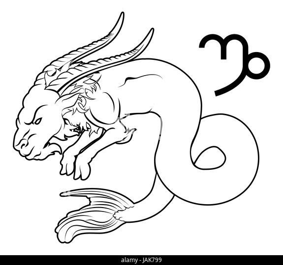 Symbol Capricorn Zodiac Sign Vector Stock Photos Symbol Capricorn