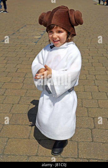 London UK. 26th May 2017. Two year old Julia dresses up as Princess  sc 1 st  Alamy & Princess Leia Costume Stock Photos u0026 Princess Leia Costume Stock ...