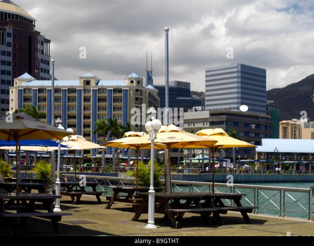 Caudan waterfront stock photos caudan waterfront stock - Restaurants in port louis mauritius ...