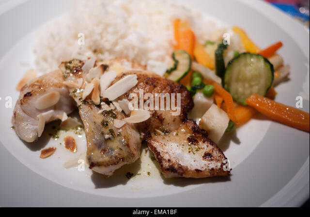 Fish rice vegetables stock photos fish rice vegetables for Rice dishes with fish