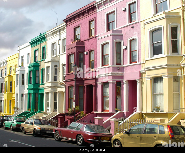 Notting hill houses stock photos notting hill houses for House notting hill