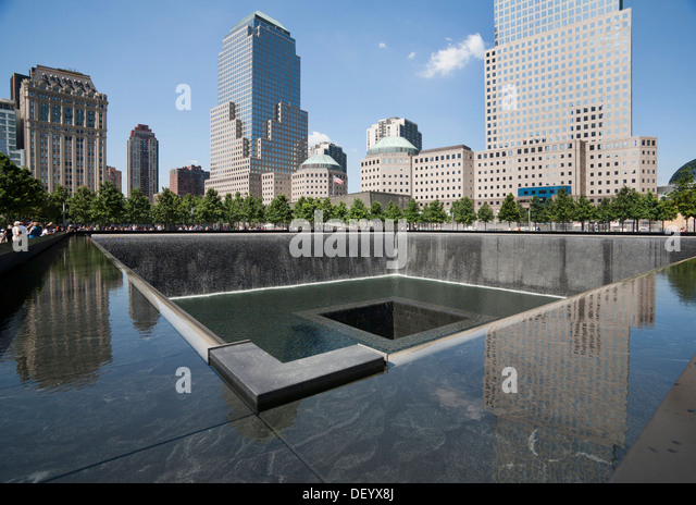 9 11 Memorial North Pool World Stock Photos 9 11 Memorial North Pool World Stock Images Alamy