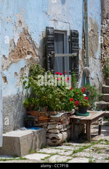 Mediterranean Courtyard Stock Photos Mediterranean